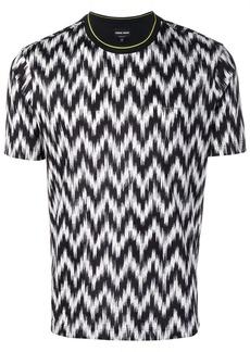 Armani zig-zag printed T-shirt