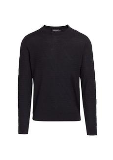 Armani Zig Zag Texture Crewneck Sweater
