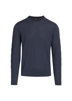 Armani Zig Zag Texture Wool Sweater
