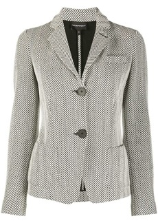 Armani zigzag patterned notched lapel blazer