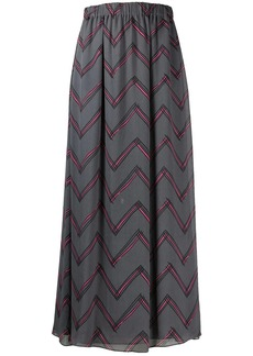 Armani zigzag print elasticated waist skirt