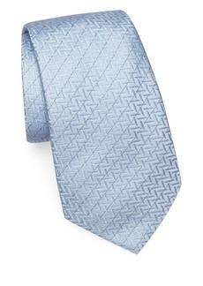 Armani Zigzag Silk Tie