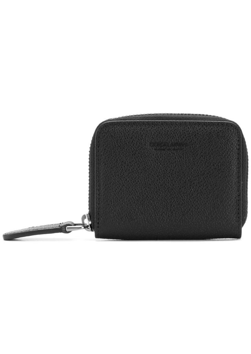 Armani zip-around coin purse