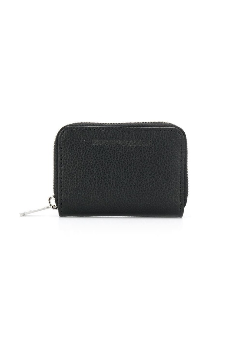 Armani zip-around wallet