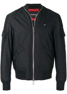 Armani zip collar bomber jacket