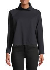 Armani Zip-Collar Long-Sleeve Jersey Sport Top