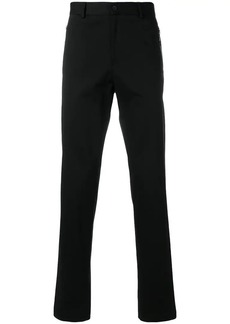 Armani zip-detailed straight-leg trousers