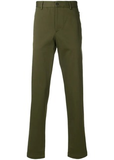 Armani zip-detailed straight-leg trousers