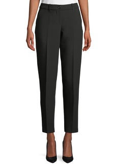 Armani Zip-Front Classic Stretch Cigarette Pants