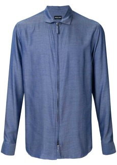 Armani zip front shirt