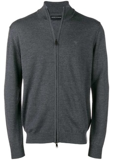 Armani zip front sweater