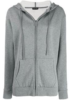 Armani zip fronted hoodie
