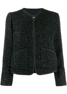 Armani zip-up tweed jacket