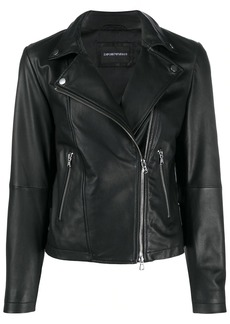 Armani zipped biker jacket