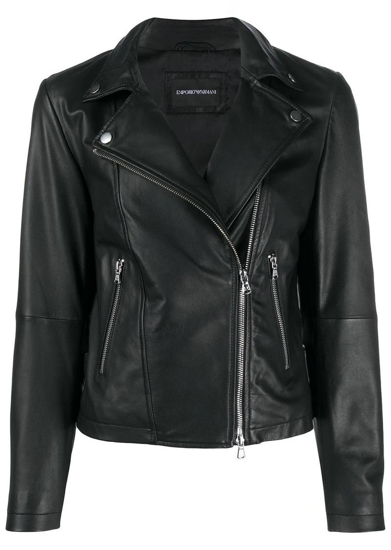 Armani zipped biker jacket