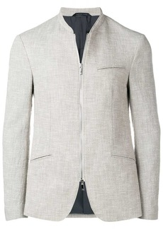 Armani zipped fitted blazer