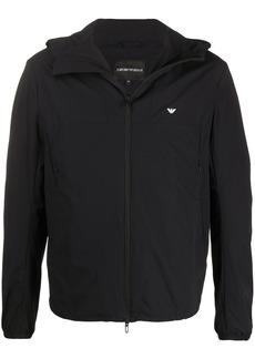 Armani zipped logo jacket