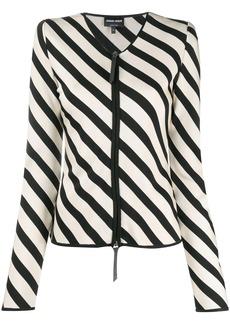 Armani zipped striped jacket