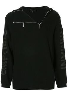 Armani asymmetric zip hoodie