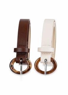 Aéropostale Aeropostale Women's Skinny 2-Pack Belts  Medium/Large
