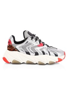 Ash Addict Extreme Calf Hair-Trimmed Chunky Sneakers