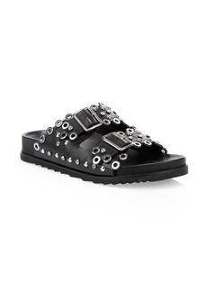 Ash As Universe Grommet Leather Slide Sandals