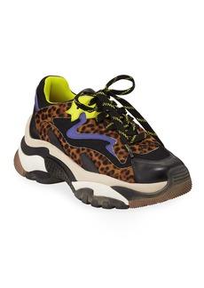 Ash Addict Colorblock Leopard Sneakers