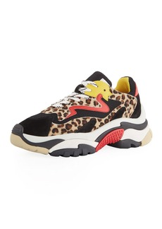 Ash Addict Mixed Leopard Colorblock Sneakers