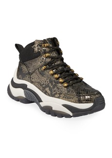 Ash Alfa Python-Print Sneakers