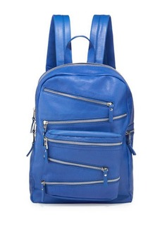 Ash Angel Large Zip-Front Leather Backpack