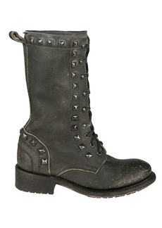 Ash Ash Rango Studded Lace-up Boots