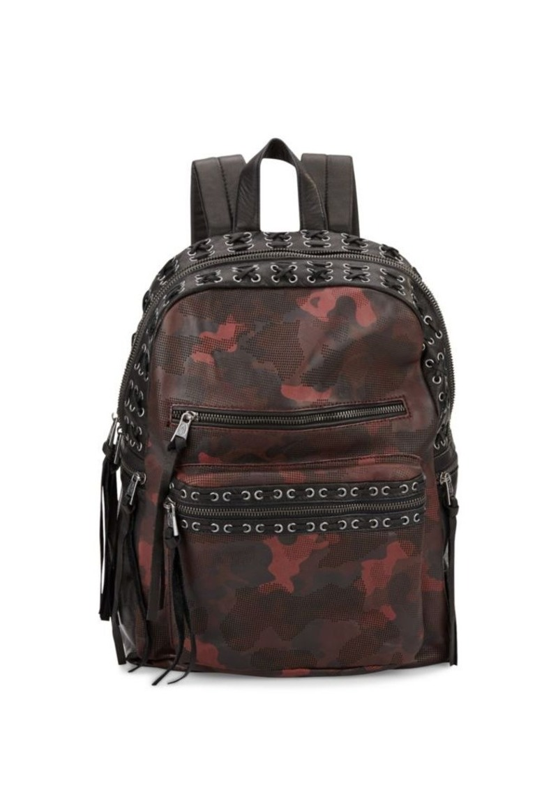 Ash Billy Leather Camo Backpack