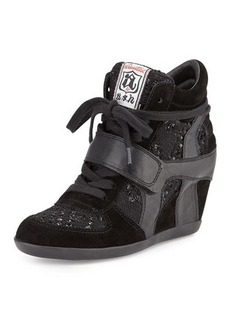 Ash Bowie Sequined Hidden-Wedge Sneaker