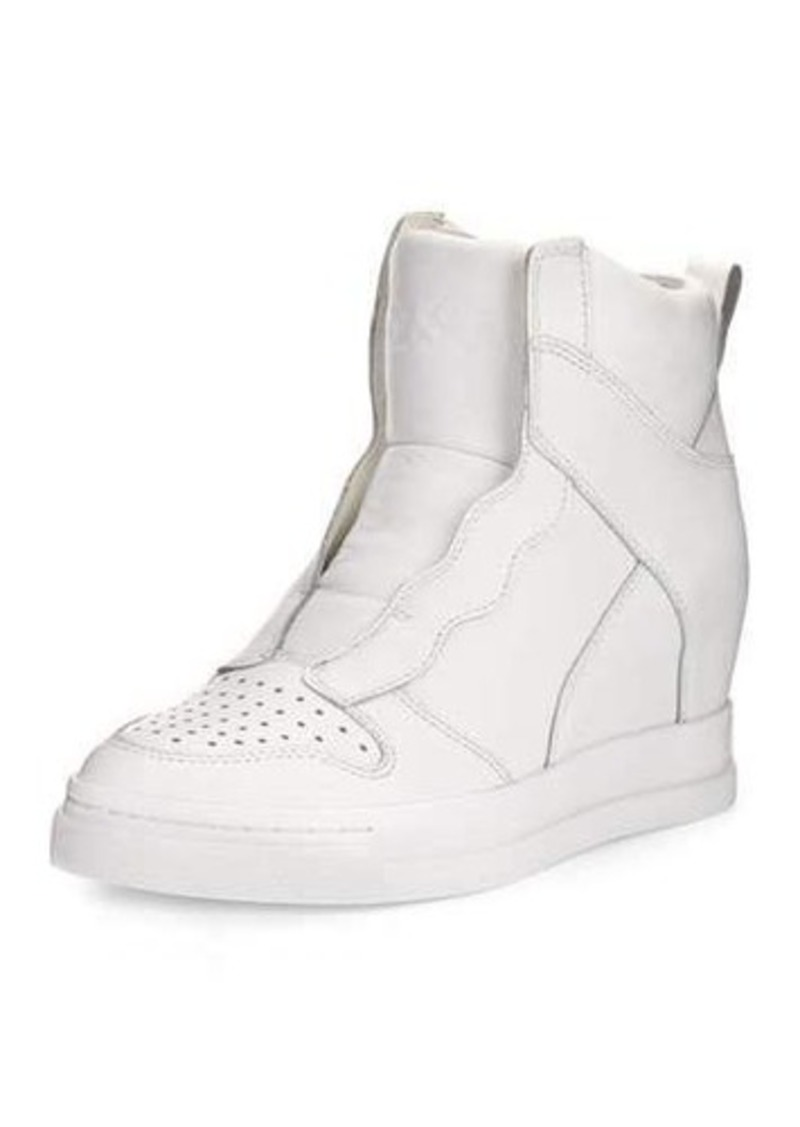 Ash Clone Leather Hidden-Wedge High-Top Sneaker