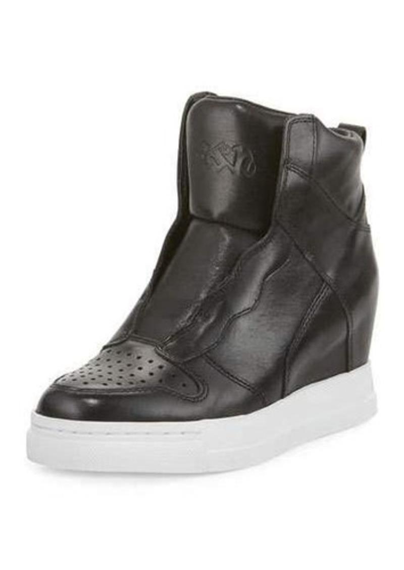 Ash Clone Leather Hidden-Wedge High-Top Sneaker