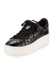 Ash Cult Crocodile-Embossed Platform Sneaker