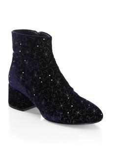 Ash Diamond Velvet Booties