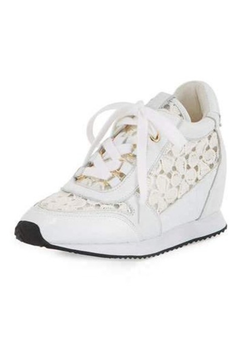 Ash Dreamlace Hidden-Wedge Leather Sneaker