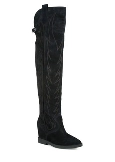 Ash Gaucho Stitched Suede Over-The-Knee Boots