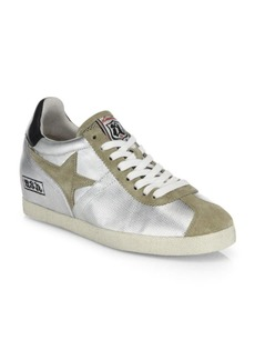 Ash Guepard Ter Metallic Leather& Suede Wedge Sneakers