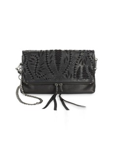 Ash Indica Leather Crossbody Clutch