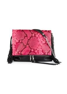 Ash Kimi Leather Fringe Crossbody Bag