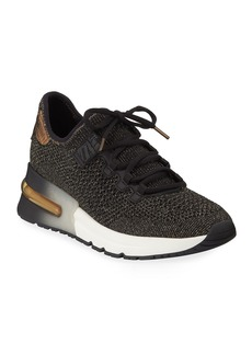 Ash Krush Bis Mesh Sneakers  Black/Gold