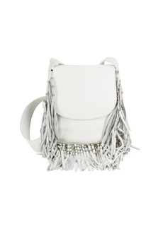 Ash Laurel Fringed Leather Crossbody Bag