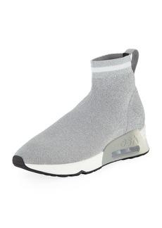 Ash Lovely Metallic Knit High-Top Sock Sneakers