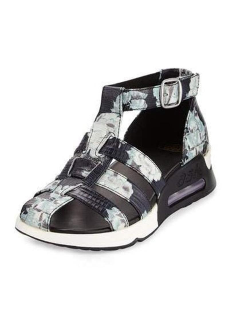 Ash Lula Lizard-Embossed Caged Sneaker