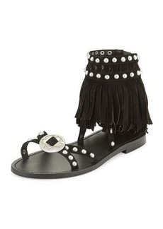 Ash Mary J Suede Fringe Sandals