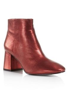 Ash Metallic Leather Block Heel Booties - 100% Exclusive