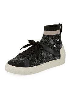 Ash Ninja Star-Sock Lace-Up Sneakers