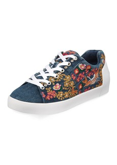 Ash Nippon Denim Embroidered Sneakers